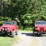 1990 YJ and 1989 YJ side-by-side.