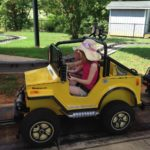 Nieces testing out their own version of a yellow jeep.